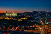 Bratislava castle in the sunset