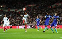 Nathaniel Clyne of England shoots  - Mandatory by-line: Dougie Allward/JMP - 29/03/2016 - FOOTBALL - Wembley Stadium - London, United Kingdom - England v Netherlands - International Friendly