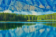 Reflection of Mt. Rundle in Two Jack Lake<br />Banff National Park<br />Alberta<br />Canada