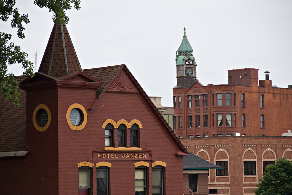 Buildings in downtown Marquette Michigan.