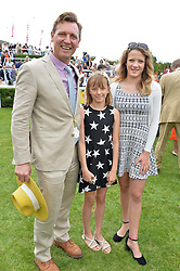 ANGUS FORBES husband of Darcey Bussell and their daughters ZOE & PHOEBE  at day 3 of the Qatar Glorious Goodwood Festival at Goodwood Racecourse, Chechester, West Sussex on 28th July 2016.
