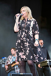 © Licensed to London News Pictures; 03/09/2021; Bristol, UK. JANE WEAVER plays the main stage at the Idles on the Downs, where the band Idles will be headlining their Bristol homecoming show. Taking place across three festival-sized stages, the event is a one day festival on the same site on Bristol Downs as Love Saves the Day taking place on Saturday and Sunday. Event organisers Team Love and Simple Things, alongside IDLES, are making available 2,000 complimentary tickets to local NHS workers to say 'thank you' for their amazing work on the frontline of the Covid-19 pandemic.  The festival will also be supporting a range of local community organisations and charities Photo credit: Simon Chapman/LNP.