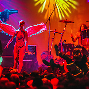 Nirvana plays during taping of MTV New Years celebration on 12-13-1993 on Seattle's Pier 48.