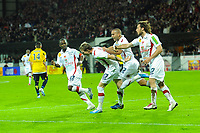 FOOTBALL - FRENCH CHAMPIONSHIP 2010/2011 - L1 - FC LORIENT v PARIS SAINT GERMAIN - 14/11/2010 - PHOTO PASCAL ALLEE / DPPI - JOY NOLAN ROUX AFTER IS GOAL