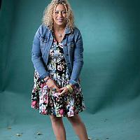 Salena Godden, the British poet, at the Edinburgh International Book Festival 2015. Edinburgh, Scotland. 21st August 2015 <br /> <br /> Photograph by Gary Doak/Writer Pictures<br /> <br /> WORLD RIGHTS