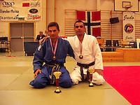 "Afghan Judokas visiting Norway....Afghanske judokas besøker Norge....Farhad Hazrati (left) and Shafiq Eqrar (right) won gold in ""Åpent Trøndersk Mesterskap"" in Levanger, Norway, 2004"