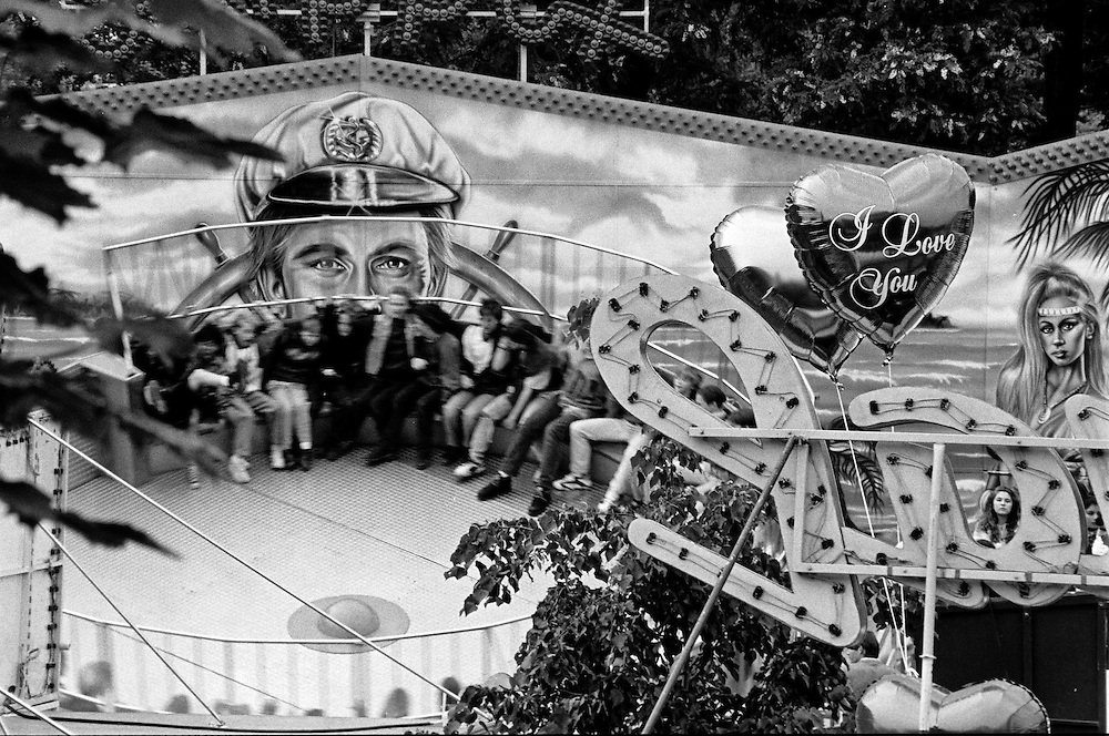 """One of the really early images when I still was working for the local newspaper """"Oberurseler Kurier"""" of a celebration called """"Brunnenfest"""" in the city of Oberursel. Photographed 1992."""