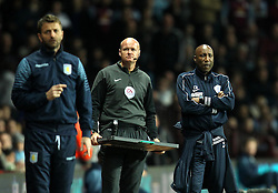 Aston Villa Manager, Tim Sherwood and Queens Park Rangers Head Coach, Chris Ramsey prowl the touchline - Photo mandatory by-line: Robbie Stephenson/JMP - Mobile: 07966 386802 - 07/04/2015 - SPORT - Football - Birmingham - Villa Park - Aston Villa v Queens Park Rangers - Barclays Premier League