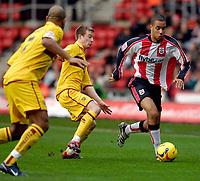Photo: Alan Crowhurst.<br />Southampton v Burnley. Coca Cola Championship. 13/01/2007. Saints' David McGoldrick (R) attacks.