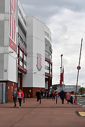 A general view from outside the ground before the Sky Bet Championship match at the bet365 Stadium, Stoke.