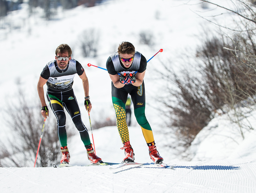Jorgen Grav of the University of Vermont, during the NCAA Skiing Championships Freestyle Interval Start on Thursday March 10, 2016 at Steamboat, CO. (Dustin Satloff)