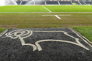 Derby's motif ahead of the EFL Sky Bet Championship match between Derby County and Cardiff City at the Pride Park, Derby, England on 14 February 2017. Photo by Jon Hobley.