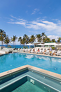 The tiered infinity swimming pools at Andaz hotel in Wailea, Maui, Hawaii