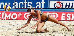 06-08-2011 VOLLEYBAL: FIVB WORLD TOUR GRANDSLAM: KLAGENFURT<br /> Marleen Van Iersel (NED)<br /> ©2011-FotoHoogendoorn.nl / Erwin Scheriau