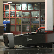 6/8/08 Omaha, NEStorm damage from a possible  tornado in Millard area 132nd and Q streets..Bucky's Amoco blown over gas pump..No one was in the station at the time of the storm..(chris machian/Omaha World Herald)