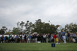 March 16, 2019 - Ponte Vedra Beach, FL, U.S. - PONTE VEDRA BEACH, FL - MARCH 16: Tommy Fleetwood of England plays a shot on the 16th hole during the third round of THE PLAYERS Championship on March 16, 2019 on the Stadium Course at TPC Sawgrass in Ponte Vedra Beach, Fl. (Photo by David Rosenblum/Icon Sportswire) (Credit Image: © David Rosenblum/Icon SMI via ZUMA Press)