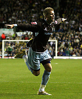 Photo: Paul Thomas/Sportsbeat Images.<br /> Leeds United v Bury FC. Johnstone's Paint Trophy. 13/11/2007.<br /> <br /> Andy Bishop of Bury celebrates his goal as they take the lead 2-1.