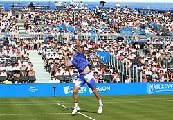 June 19, 2017 - London, United Kingdom - Denis Shapovalov (CAN) agoinst Kyle Edmund GBR)  during Round One match on the first day of the ATP Aegon Championships at the Queen's Club in west London on June 19, 2017  (Credit Image: © Kieran Galvin/NurPhoto via ZUMA Press)