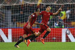 October 31, 2017 - Rome, Italy - Diego Perotti of Roma celebrating the goal of 3-0 scored  during the UEFA Champions League football match AS Roma vs Chelsea on October 31, 2017 at the Olympic Stadium in Rome. (Credit Image: © Matteo Ciambelli/NurPhoto via ZUMA Press)