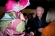 GRAYSON PERRY; SIR MICHAEL CAINE;  attend The Galleries of Modern London launch party at the Museum of London on May 27, 2010 in London. <br /> -DO NOT ARCHIVE-© Copyright Photograph by Dafydd Jones. 248 Clapham Rd. London SW9 0PZ. Tel 0207 820 0771. www.dafjones.com.