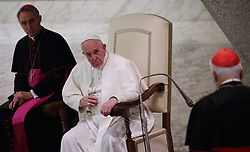 March 29,  2019  - Vatican City, Holy See - POPE FRANCIS during the audience to the participants  at ''Corso sul Foro Interno'' promoted by the apostolic penitentiary court, in Aula Paolo VI at the Vatican. (Credit Image: © Evandro Inetti/ZUMA Wire)