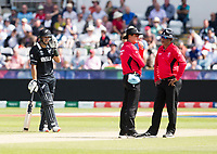 Cricket - 2019 ICC Cricket World Cup - Group Stage: England vs. NZ<br /> <br /> Kane Williamson of New Zealand is run out by Mark Wood of England, at the Riverside, Chester-le-Street, Durham.<br /> <br /> COLORSPORT/BRUCE WHITE