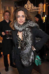 JEANNE MARINE at a party to celebrate the arrival of the 'A Princess to be a Queen' collection at the Roger Vivier boutique on Sloane Street, London on 20th October 2009.