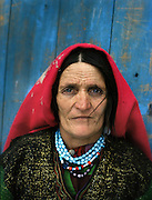 Noor Begum (mother). One family..Many Wakhis are blue eyed. Some say descendant of Alexander the Great..Winter expedition through the Wakhan Corridor and into the Afghan Pamir mountains, to document the life of the Afghan Kyrgyz tribe. January/February 2008. Afghanistan