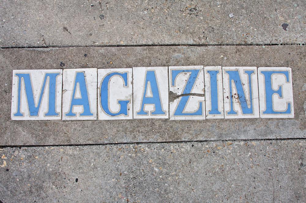 Sidewalk, Magazine Street, New Orleans, Louisiana, USA