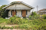 July 12, 2015, blighted home nearly ten years-post Katrina, across from a new housing projects.