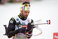 FOURCADE Simon of France during Men 10 km Sprint of the e.on IBU Biathlon World Cup on Thursday, March 6, 2014 in Pokljuka, Slovenia. The first e.on IBU World Cup stage is taking place in Rudno polje - Pokljuka, Slovenia until Sunday March 9, 2014. Photo by Matic Klansek Velej / Sportida