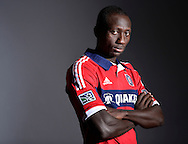 Chicago Fire forward Dominic Oduro poses for a portrait on January 18, 2013 in Bridgeview, Illinois.