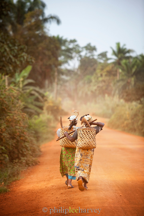Villagers on the Ring Road in north-western Cameroon, near Babungo