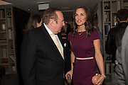 ANDREW NEIL, PIPPA MIDDLETON, Spectator Life - 3rd birthday party. Belgraves Hotel, 20 Chesham Place, London, SW1X 8HQ, 31 March 2015