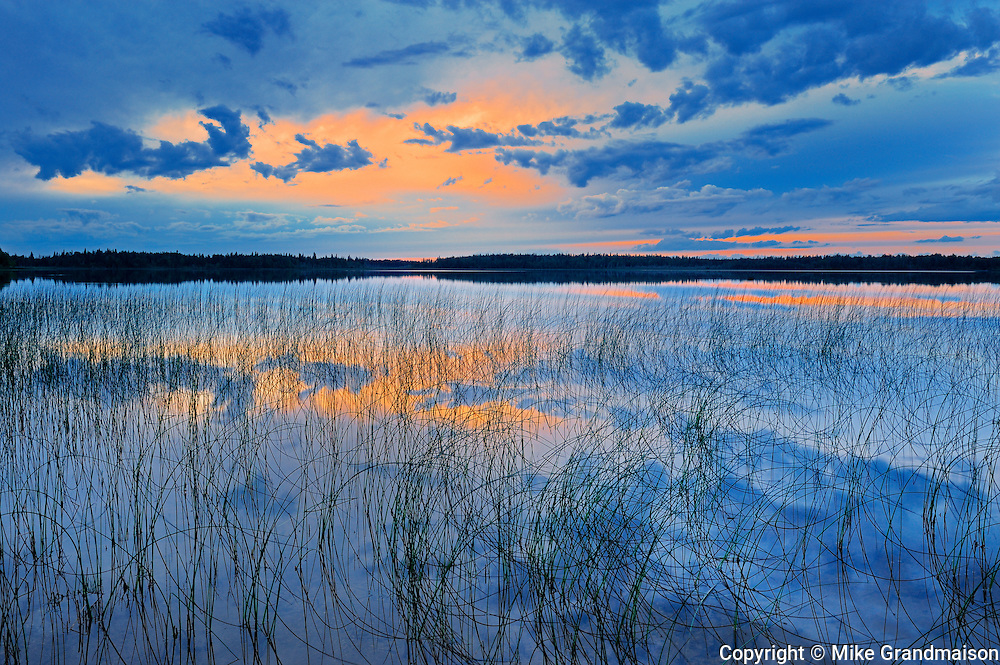 Sunset on Carey Lake<br /> Hearst<br /> Ontario<br /> Canada