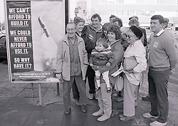 Brian Clough joining CND protest in Nottingham UK 1986