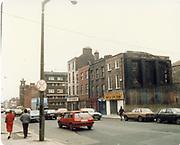 Old amateur photos of Dublin streets churches, cars, lanes, roads, shops schools, hospitals Bolton St, JJ Byrnes Ltd, Dorset St School, Black Church, Fire Station, 1901 Bolton St, Dominick St 2 white houses, November 1987