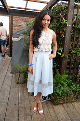 SARAH-JANE CRAWFORD attending the Warner Bros. & Esquire Summer Party held at Shoreditch House, Ebor Street, London E1 on 18th July 2013.