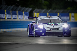 June 14, 2018 - Le Mans, FRANCE - 91 PORSCHE GT TEAM (DEU) PORSCHE 911 RSR GTE PRO RICHARD LIETZ (AUT) GIANMARIA BRUNI (ITA) FREDERIC MAKOWIECKI  (Credit Image: © Panoramic via ZUMA Press)