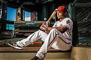 Justin Upton of the Arizona Diamondbacks, photographed at Bank One Ballpark in Phoenix, Arizona.