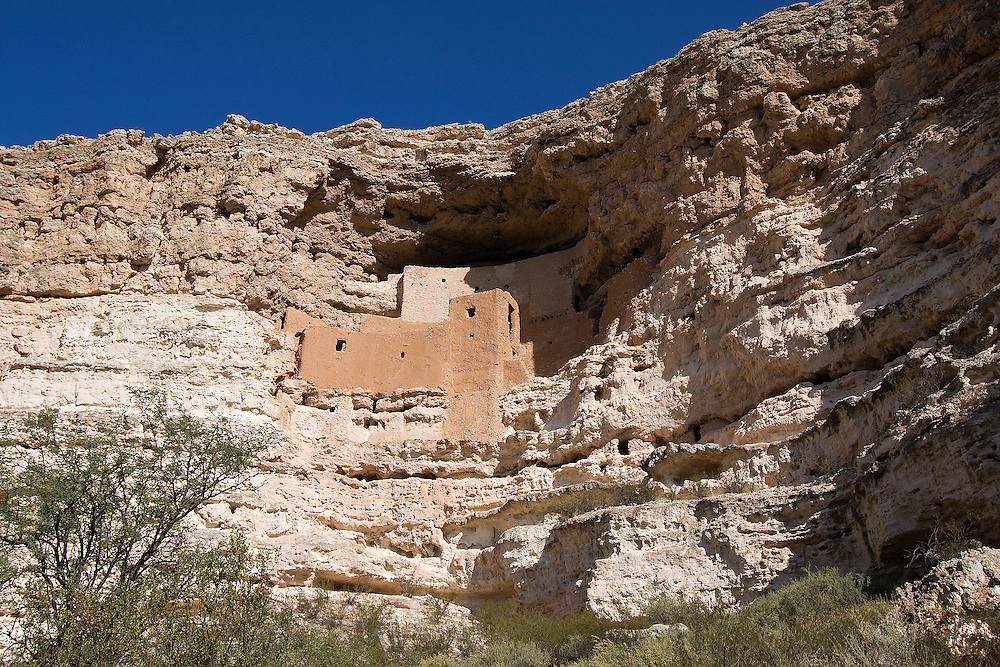 Montezuma Castle National Monument offers one of the best preserved cliff dwellings in North America. This 20 room high-rise apartment, nestled into a towering limestone cliff, tells a 1,000 year-old story of ingenuity and survival in an unforgiving desert landscape.