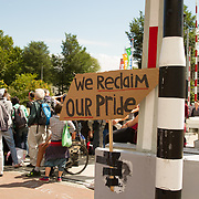 NLD/Amsterdam//20170805 - Gay Pride 2017, Straat tekst