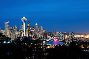Blue Hour on Seattle skyline, viewed from Kerry Park, Washington State, USA