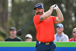 January 19, 2019 - Lake Buena Vista, FL, U.S. - LAKE BUENA VISTA, FL - JANUARY 19: Chad Pfeifer tees off on hole 2 during the third round of the Diamond Resorts Tournament of Champions on January 19, 2019, at Tranquilo Golf Course at Fours Seasons Orlando in Lake Buena Vista, FL. (Photo by Roy K. Miller/Icon Sportswire) (Credit Image: © Roy K. Miller/Icon SMI via ZUMA Press)
