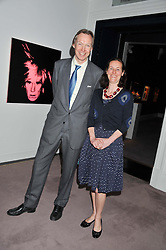The HON.JAMES STOURTON and ELEANOR NEWMAN at a party to celebrate the publication of Can We Still Be Friends by Alexandra Shulman held at Sotheby's, 34-35 New Bond street, London on 28th March 2012.