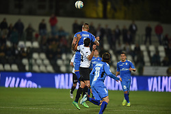 November 3, 2018 - Vercelli, Italy - Italian stricker Umberto Eusepi from Novara Calcio team playing during Saturday evening's match against Pro Vercelli team valid for the 10th day of the Italian Lega Pro championship  (Credit Image: © Andrea Diodato/NurPhoto via ZUMA Press)
