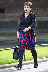 © Licensed to London News Pictures . 11/05/2015 . London , UK . BARONESS STOWELL OF BEESTON ( Tina Stowell ) , Leader of the House of Lords , arrives at 10 Downing Street this morning (11th May 2015) . Photo credit : Joel Goodman/LNP