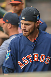 March 26, 2018 - Houston, TX, U.S. - HOUSTON, TX - MARCH 26: Houston Astros outfielder Josh Reddick (22) walks through the dugout during the game between the Milwaukee Brewers and Houston Astros at Minute Maid Park on March 26, 2018 in Houston, Texas. (Photo by Ken Murray/Icon Sportswire) (Credit Image: © Ken Murray/Icon SMI via ZUMA Press)