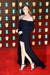 attends the EE British Academy Film Awards at the Royal Albert Hall in London, UK. 18 Feb 2018 Pictured: Karen Gillan. Photo credit: Fred Duval / MEGA TheMegaAgency.com +1 888 505 6342