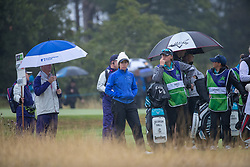 Great Britain's Georgia Hall makes her way to the 16th hole during her Semi Final match with Sweden this morning during day eleven of the 2018 European Championships at Gleneagles PGA Centenary Course.